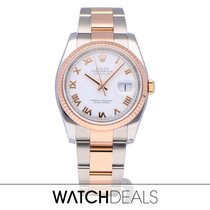 Rolex Datejust 36 steel / rose gold from 2011 with box + papers