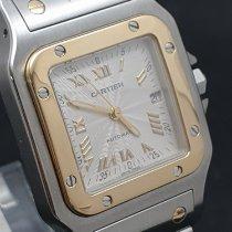 Cartier Santos Galbée Gold/Steel 29mm Silver Roman numerals
