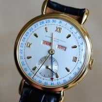 Vacheron Constantin new Manual winding Small Seconds Blue Steel Hands Genevian Seal 35.5mm Yellow gold Plexiglass