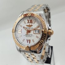 Breitling Galactic 41 Gold/Steel 41mm White Roman numerals