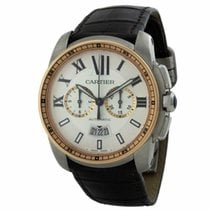 Cartier Calibre de Cartier Chronograph Gold/Steel 42mm White