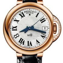 Bedat & Co Nº8 Rose gold 36mm Silver Roman numerals United States of America, New York, Greenvale