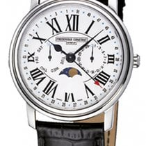 Frederique Constant Classics Business Timer Steel White United States of America, New York, Brooklyn