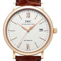 IWC Red gold Automatic Silver No numerals 40mm new Portofino Automatic