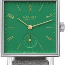 NOMOS Tetra Steel 29.5mm Green United States of America, New York, Airmont