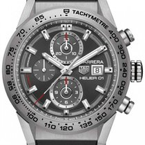TAG Heuer Carrera Calibre HEUER 01 CAR208Z.FT6046 Tag Heuer Carrera Cronografo Gomma Nera Data 2017 new