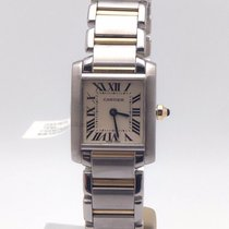 Cartier Tank Francaise Small Steel & 18k Yellow Gold...