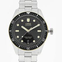 Oris Divers Sixty-Five 40mm Black Dial Steel Strap