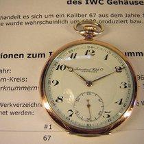 IWC Schöne und  gut erhaltene IWC Taschenuhr in Silber.