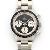 Gevril Steel Tribeca Paul Newman Chronograph Watch