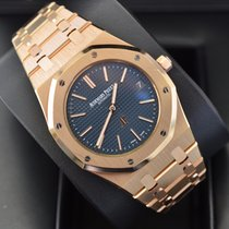 Audemars Piguet Royal Oak Jumbo Ultra thin Rose Gold Blue Dial...