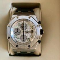 Audemars Piguet Royal Oak Offshore Chronograph nieuw 2008 Automatisch Chronograaf Horloge met originele doos en originele papieren 25721ST.OO.1000ST.07.A