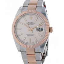 Rolex Datejust II Gold/Steel 41mm Pink No numerals