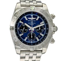 Breitling Chronomat 44 Steel 44mm Blue No numerals