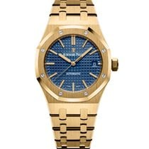 Audemars Piguet Royal Oak Selfwinding Yellow gold 37mm Blue No numerals