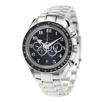 Omega Speedmaster Broad Arrow Steel 50mm Black