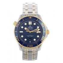 Omega Seamaster Diver 300 M Gold/Steel 42mm Blue