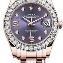 Rolex Pearlmaster Růžové zlato 39mm Fialová