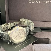Concord Steel Quartz White Roman numerals 40mm new Saratoga