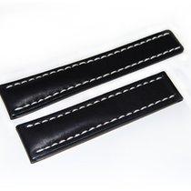 Breitling Kalbslederband für Faltschließe  Schwarz 22-20 mm