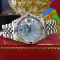 Rolex Datejust Diamonds Mother Of Pearl White Gold Stainless...