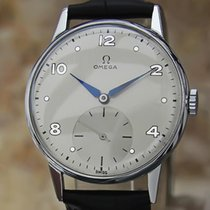 Omega Rare Mens 1950s Stainless Steel 34mm Manual Vintage...