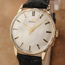 Omega Swiss Made Men's 1950s 18k Gold Manual 33mm Vintage...