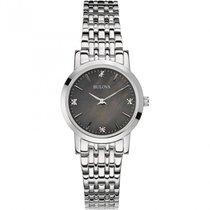 Bulova ladies Diamond Accent Stainless Steel Bracelet Watch...
