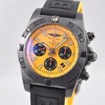 Breitling Chronomat 44 BlackSteel Chronograph Yellow Rubber