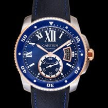 Cartier Calibre de Cartier Diver Rose gold 42.00mm Blue United States of America, California, San Mateo