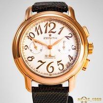 Zenith El Primero Chronomaster Lady Ruzicasto zlato 37,50 mmmm Srebro Arapski brojevi