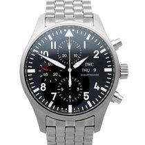 IWC Pilot Chronograph Ατσάλι 43mm Μαύρο