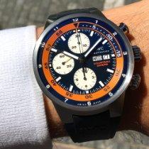 IWC Aquatimer Chronograph Ocel 44mm Modrá Bez čísel