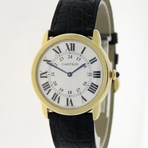 Cartier Yellow gold Quartz White Roman numerals 36mm pre-owned Ronde Solo de Cartier