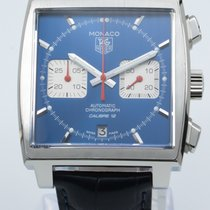 TAG Heuer Monaco Calibre 12 Steel 39mm Blue No numerals United States of America, Georgia, ATLANTA