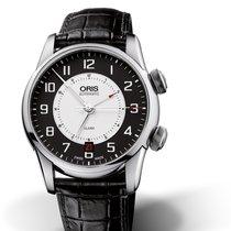 Oris Artelier Alarm Zeljezo 42.5mm Crn