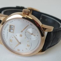A. Lange & Söhne Red gold Manual winding Silver 38,5mm pre-owned Lange 1