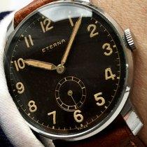Eterna Amazing Vintage Military Eterna with black GILT dial...