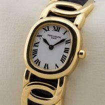 Patek Philippe Damenuhr Ellipse d'Or 23mm Quarz gebraucht Uhr mit Original-Papieren 2009