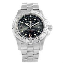 Breitling Aeromarine Superocean Steelfish Black Dial Watch A17390