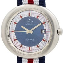 Gruen Steel 43mm Automatic 383 pre-owned