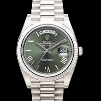 Rolex Day-Date 40 Oro blanco 40mm Verde