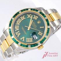 Rolex Datejust II Gold/Steel 41mm Green Roman numerals