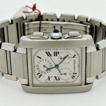 Cartier Mens Tank Française 2303 SS Chronograph