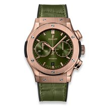 Hublot Rose gold Automatic Green No numerals 45mm new Classic Fusion Chronograph