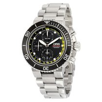 Oris Aquis Depth Gauge 01 774 7708 4154-Set MB Oris CHRONOGRAPH DEPTH GAUGE Acciaio new