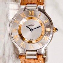 Cartier 21 Must de Cartier Gold/Steel 31mm Silver Roman numerals