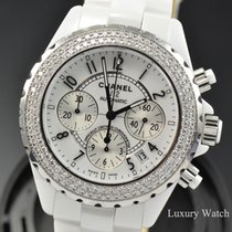 Chanel J12 Automatic Chronograph 41MM Diamond Watch H1008