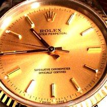 Rolex Oyster Perpetual Arany/Acél 34.5mm Pezsgőszínű Számjegyek nélkül
