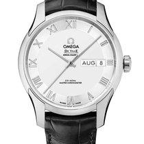 Omega Acero Automático Plata nuevo De Ville Hour Vision